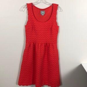 Maeve Caye Scalloped Poppy Dress